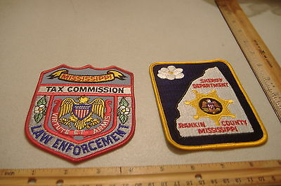 ~Rankin County Sheriff & Tax Commission Law Enforcement~Mississippi Patches~