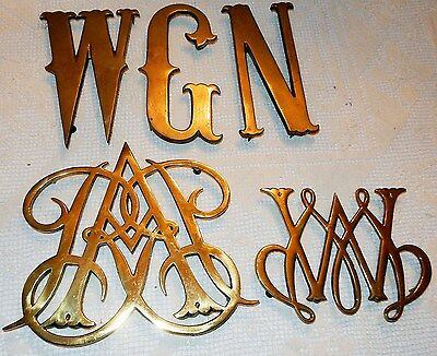 Vintage Colonial Williamsburg Brass Trivets Queen Ann William & Mary Cypher More