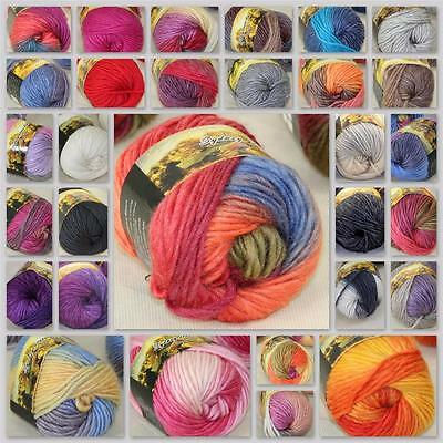Sale New 1Ball x50g Chunky Hand-woven Rainbow Colorful Knitting Scores Wool yarn