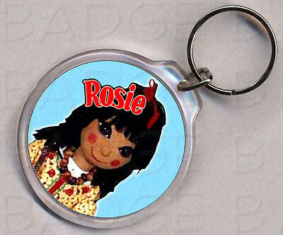 ROSIE AND JIM round keyring - DOUBLE SIDED!