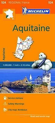 Michelin Regional Maps: France: Aquitaine Map 524 by Michelin Travel & Lifestyle