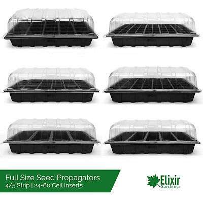 Full Size Seed Trays Greenhouse | Optional Lids | Cell Packs 24,40,60,5 Strip