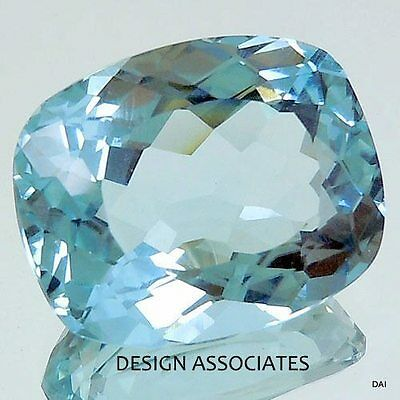 Aquamarine 6X4  Mm Cushion Cut Outstanding Blue Color All Natural