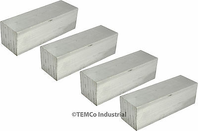 "4 LOT 1"" Inch 1"" Long 6061 Aluminum Square Bar Mill Rod Stock"
