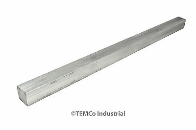 "1/2"" Inch 14"" Long 6061 Aluminum Square Bar Mill Rod Stock .50"""