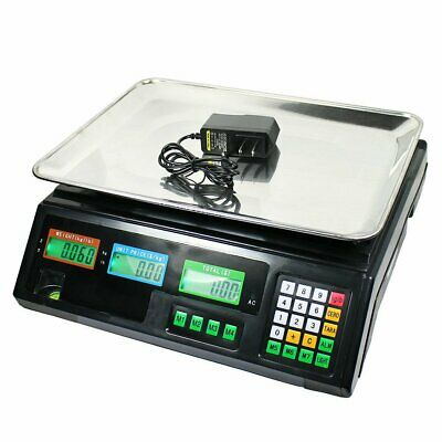80 LB Digital Weight Scale Price Computing Deli Food Produce Electronic Counter
