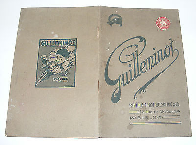 S119/ Ancien Catalogue Guilleminot 1923 Plaques Papiers Photos Developpement...