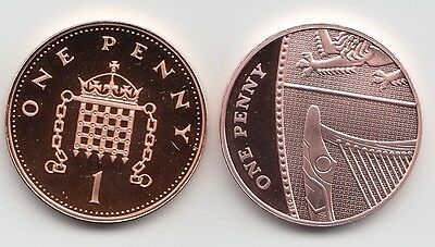 UK One Pence Coins 1p 1999 to 2017 Choose your Year - Proof