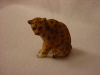 LEOPARD wild cat animal TiNY FIGURINE Resin MINIATURE Mini Safari Zoo Statue NEW
