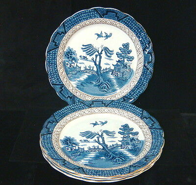 """AG Harley Jones Ye Old Chinese Willow 4 x 9 1/2"""" Luncheon Plates"""