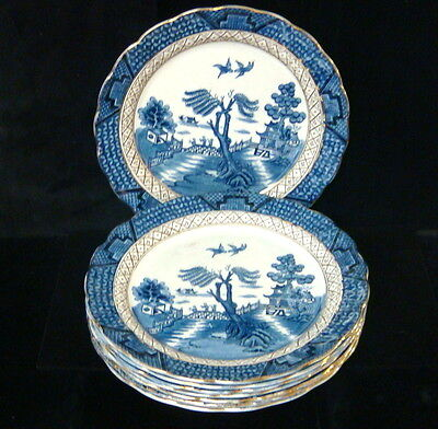 """AG Harley Jones Ye Old Chinese Willow 8 x 9 1/2"""" Luncheon Plates"""