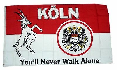 Fahne / Flagge Köln You´ll never walk alone  NEU 90 x 150 cm