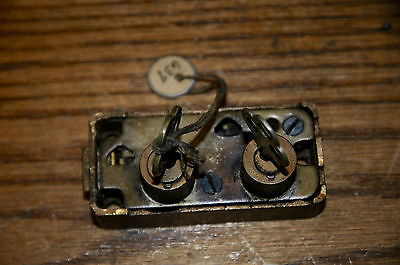 Vintage Stamford & Towne Yale Brass  Double Security Door Bolt Lock Night Latch