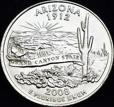US State Quarter 2008: ARIZONA, D Mint, VersandFREI