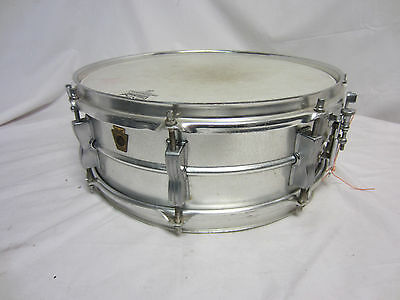 """Vintage Ludwig Prototype Acrolite Aluminum Snare Drum 14"""" (Only 200 Made)"""