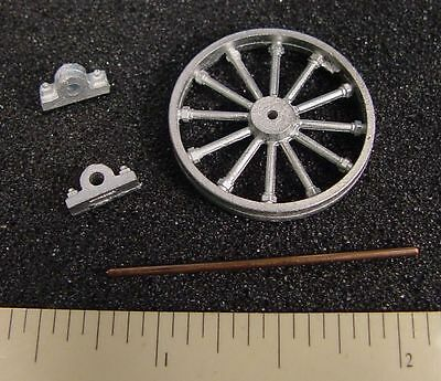 """O/On3/On30 WISEMAN MODEL SERVICES #O313 48"""" MINE SHEAVE / PULLEY WITH BEARINGS"""