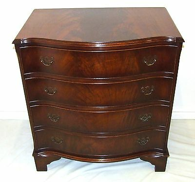 Wonderful Serpentine Fronted Mahogany Chest of Drawers : Antique Style (55)