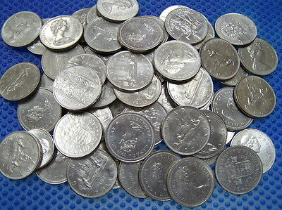 100 CANADIAN Nickel Dollar VF to UNC Mix from 1968 to 1986