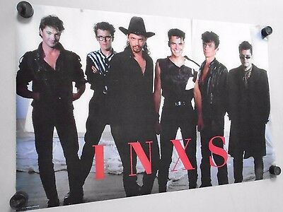 """INXS- Original Vintage Poster -Group -  Exc. new cond. / 22 1/2 x 34"""""""