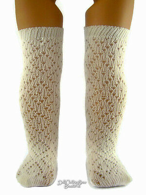 """2 Pair Included! Ivory Pattern Socks made for 18"""" American Girl Doll Clothes"""
