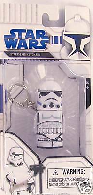 Star Wars STORMTROOPER Keychain Keyring Stack-Em Lucas Imperial Empire NEW S1