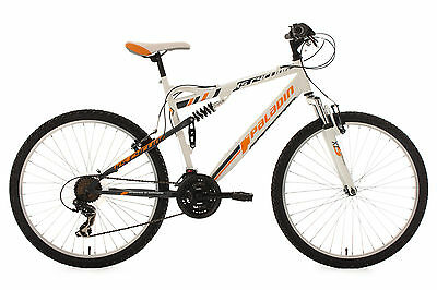Mountainbike Fully 26 Zoll 21-Gang Fahrrad Paladin Weiss-Orange Ks Cycling 337M