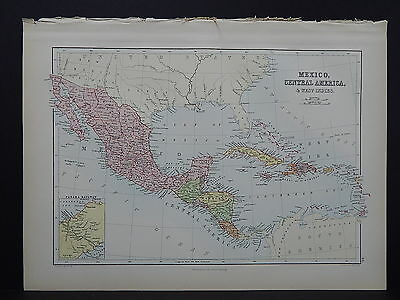 Black's 1876 Atlas, Mexico & Central America, Single Page  R8#98