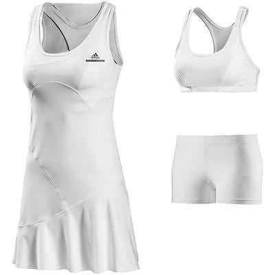 Adidas by Stella McCartney ASMC CU Barricade Dress Tennis Kleid weiß Tenniskleid