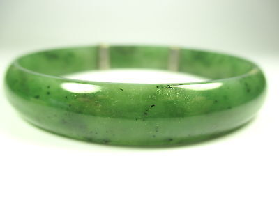 Jade Armreif Vintage 60er 70er Modernist gemstone bangle Boho x19 N4