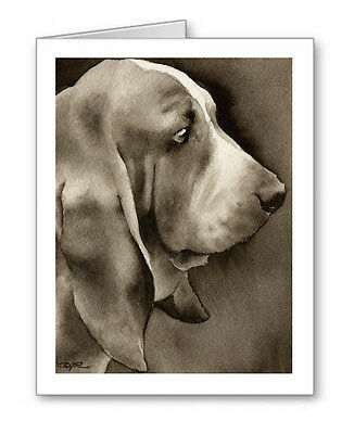 BASSET HOUND note cards by watercolor artist DJ Rogers