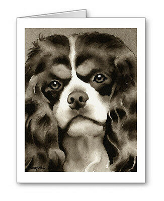 CAVALIER KING CHARLES SPANIEL note cards by watercolor artist DJ Rogers