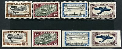 LATVIA  SCOTT#CB21/CB24a PERFORATED & IMPERFORATED SETS  MINT  HINGED