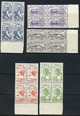 Greenland Thule  Scott#t1/t5  Blocks Of Four Mint Never Hinged