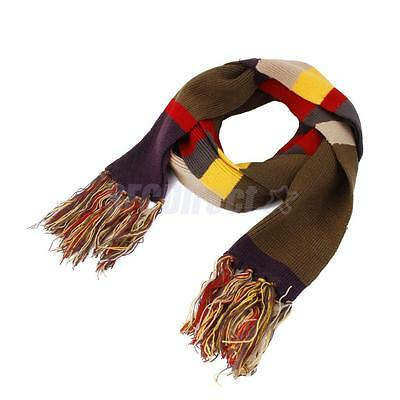 Doctor Who Scarf Cosplay Costume Fourth 4th DELUXE Tom Baker Long w/Tassels