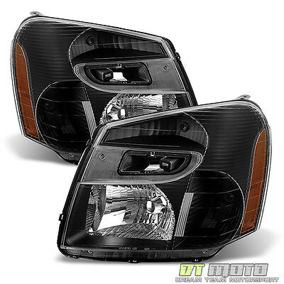 Black 2005-2009 Chevy Equinox Headlights Head Lamps Replacement 05-09 Left+Right