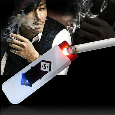 No Gas USB Electronic Rechargeable Battery Flameless Cigarette Cigar Lighter SK