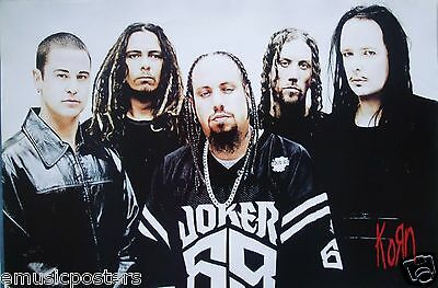"""Korn """"group Standing Together, Wearing Joker 69 Jersey"""" Poster From Asia"""