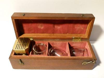 Antique Newcastle on Tyne 19thC Bloodletting 12 Blade SCARIFICATOR Cupping Set