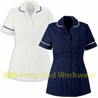 Ladies Plain Tunics Shirts Healthcare Nurses Beautician Uniform Vet Housekeeper