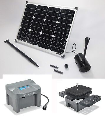 50 w solarpumpe teichpumpe gartenteichpumpe solar bachlaufpumpe pumpenset filter eur 165 00. Black Bedroom Furniture Sets. Home Design Ideas