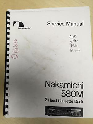 Nakamichi Service Manual for the 580M Cassette Deck ~ Reissue        mp