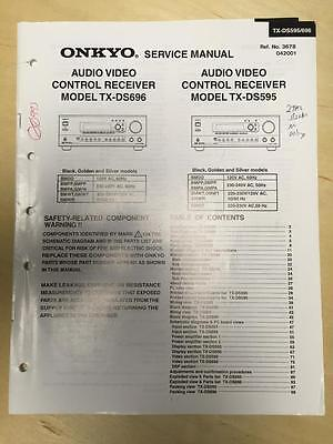 Original Onkyo Service Manual for the TX-DS696 TX-DS595 Receiver     mp