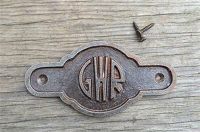 Antique style cast iron Great Western Railway door sign plaque c/w screws GW6