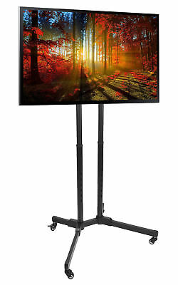 """TV Cart for LCD LED Plasma Flat Screen / Mobile TV Stand Mount fits 32"""" to 65"""""""