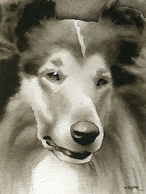 COLLIE note cards by watercolor artist DJ Rogers