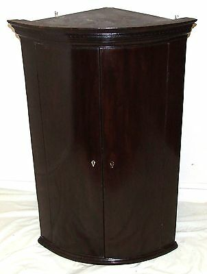 Antique Georgian Mahogany Bow Fronted Corner Cupboard • £345.00