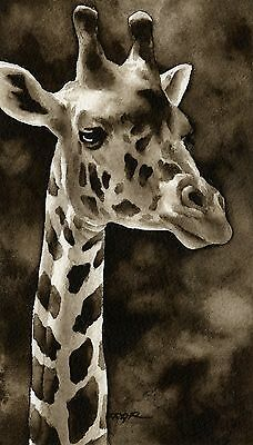 GIRAFFE note cards by watercolor artist DJ Rogers