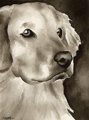 GOLDEN RETRIEVER note cards by watercolor artist DJ Rogers