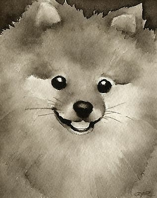 POMERANIAN note cards by watercolor artist DJ Rogers