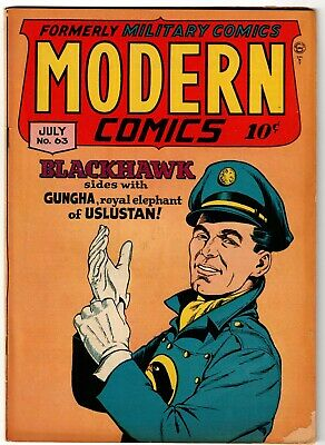 Modern Comics Comic Book #63, Quality Comics 1947 VERY GOOD+